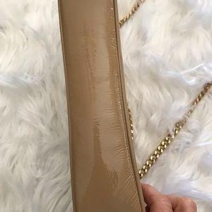 Michael Kors Bags - NWOT Michael Korda Patent Leather Nude Clutch